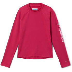 Columbia Sandy Shores Longsleeve Sunguard Shirt Kinderen, cactus pink/white
